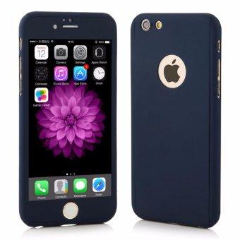 Hardcase Case 360 Iphone 6 / 6s Casing Full Body Cover - Biru Dongker / Navy + Free Tempered Glass ...