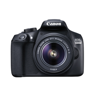 Harga Canon Kamera EOS 1300d Lens Kit EF-S 18-55 IS II - 18 MP - Hitam