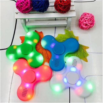 Harga Mini Wireless Bluetooth speaker With Colorful LED lights Finger Toy Speakers Rotating Sound MP3 Speaker Fingertip gyro - Int'l - intl