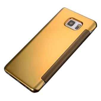 CatWalk Cermin mewah tampilan Langsing sandal keras kasus penutup untuk Samsung Galaxy NOTE5 (emas)