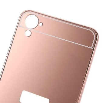 High Quality Mirror Metal Frame Back Case Cover For Oppo Source Gold Plated .