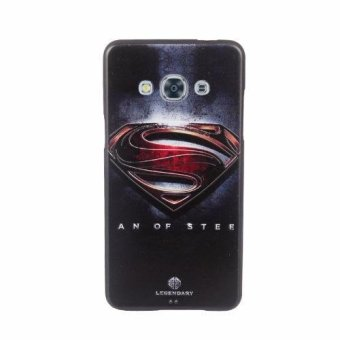 For Samsung Galaxy J3 Pro TPU 3D Painting Cover Case(Black Superman) - intl