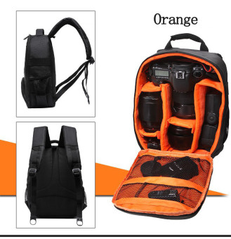 Harga Tigernu Waterproof ransel kamera DSLR tas kamera (hitam/jeruk) - International