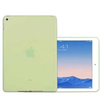 Harga Ultrathin Lightweight Transparent TPU Soft Case Only for iPad Air 2 (Green)