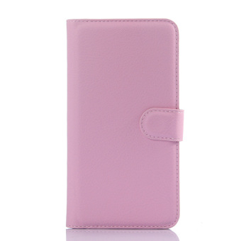 Harga Cyboris PU Leather Flip Cover for Xiaomi Redmi Note 2 (Pink) - intl