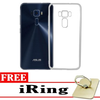 Softcase Silicon Jelly Case List Shining Chrome for Asus Zenfone 3 ZE552KL - Silver + Free
