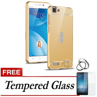 ... Galaxy J7 Prime Bumper Case Backcase Hardcase Source · Case for Vivo Y35 Aluminium Bumper With Mirror Backdoor Slide Gold Gratis Tempered Glass