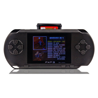 Harga Fitzladd PXP 3 Handheld Portable LED Game Console Slim Station,16 Bit Retro Video,2 Extra Cartridge,150+ Games, Game Player Toys for Kids Perfect Gifts-Black - intl