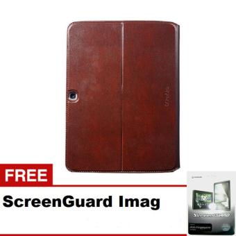 Harga CAPDASE Case Samsung Galaxy TAB 3 10 Folder case FLIP JACKET - cokelat + Gratis ScreenGuard Imag
