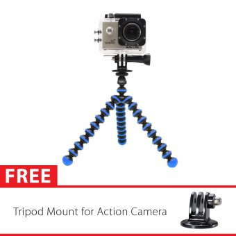 Harga Sport Cam Octopus Gorilla Mini Tripod Biru Tua With Mount for SJ4000/SJ5000, GoPro, Brica Alpha Edition & Xiaomi Yi
