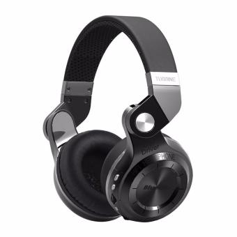 Harga Bluedio Turbine T2+ (T2 PLUS) Headphone/Headset Bluetooth 4.1 with SD Card Slot + FM Radio Scan Function - Hitam