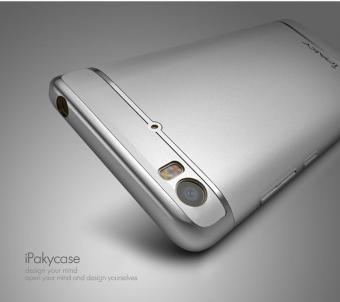IPAKY Electroplating PC Back Case 3-In-1 for Xiaomi Mi 5 - Silver