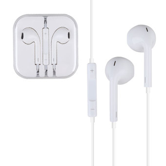 Harga Earphone Headphone 3.5mm Headset W/Mic For Apple iPhone iPad iPod Touch