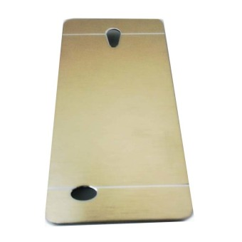 Harga Motomo Oppo Joy 3 / A11W Metal Hardcase / Metal Back Cover Hardcase Backcase / Metal Case - Gold