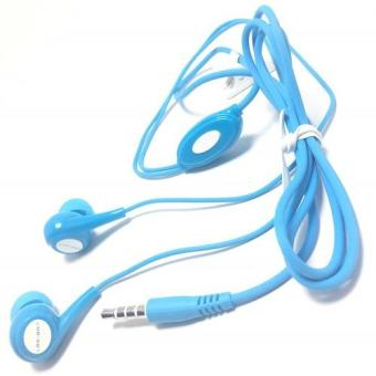 Harga Log On Handsfree / Headset Soft Candy - Blue