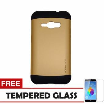 Case Samsung Galaxy J2 Prime Slim Armor - Gold+ Tempered Glass