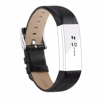 Miimall Genuine Leather Band Strap With Buckle Replacement Wristband for Fitbit Alta and Fitbit Alta HR