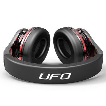... Bluedio Bluetooth headset nirkabel seperti UFO headphone dengan mikrofon hitam merah 2