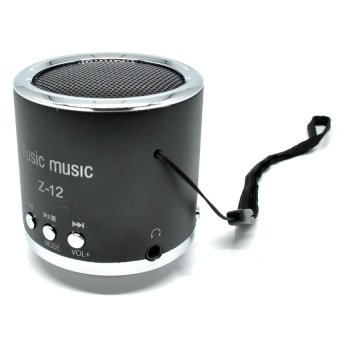 Harga Speaker Insert Card Speaker Support MicroSD Card, USB Flash Disk, FM Radio - Z-12 - Hitam