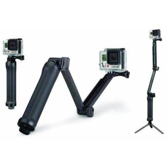 Harga 3 Way Foldable Extension Tripod for Xiaomi Yi / Xiaomi Yi 2 4K / GoPro - Black