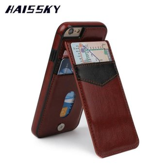 Harga HAISSKY Leather Case For iPhone 7 Case iPhone 7 Cases Luxury Wallet Cards Fundas Buckle Cover Phone Coque - intl
