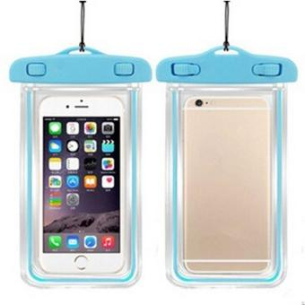 Harga LALANG Waterproof Mobile Phone Bag Dry Case Cover Luminous Pouch for IPHONE 4 4S 5 5S 6 6S PLUS (Blue)