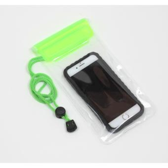 Harga G-Smart Clear Waterproof Pouch Bag/Case for Smartphone - Hijau