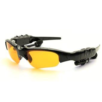 ... 360DSC Kacamata Hitam dengan Bluetooth nirkabel cerdas dan headphone bebas tangan dengan fungsi musik dan menjawab