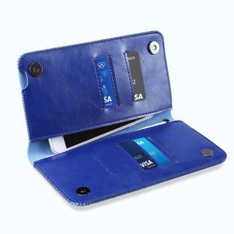 Detail Gambar Excelvan Folio PU Leather Wallet Case for iPhone 6 Plus/6S Plus/