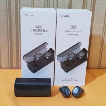 Review Dan Harga Qcy Q29 Mini Wireless Bluetooth 4 1 Double Dual Headphone Earphone And Charging Box April 2018