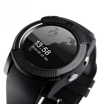 Bluetooth dengan Slot kartu SIM bulat IPS kamera jam pintar untuk IOS dan .