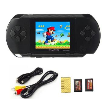 Harga 16 Bit PXP3 Handheld Game Player Video Game Console with AV Cable Support TV-out 2 Game Cards PXP 3 Slim Station Classic Games - intl