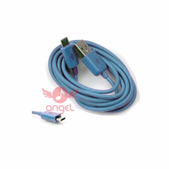 Harga Angel Candy Colour Cable Blackberry 1m Type 02- Micro USB - Biru