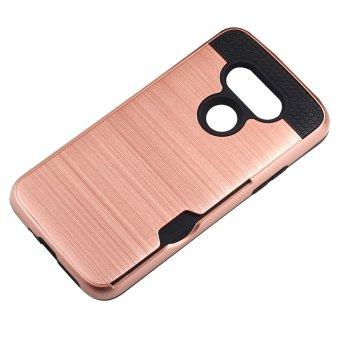 RUILEAN Case For LG G5 Dual Layer TPU PC Shockproof Card Slot Brushed .