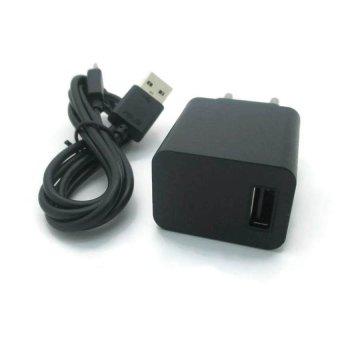 Asus Charger dan Kabel Data Micro USB For Zenfone - Hitam