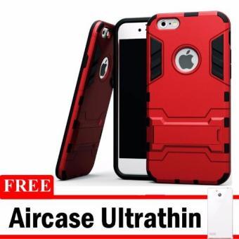 Harga Casing Handphone Iphone 5 / 5S Seri Ironman Kickstand + Free Ultrathin