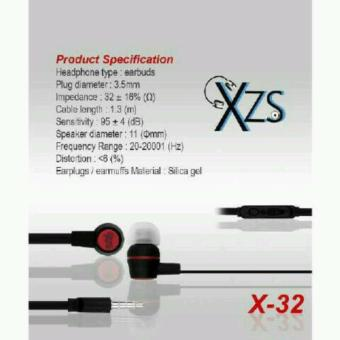 Harga Yarden Universal X-32 Stereo Super Bass Headsfree Excellent Sound Quality With Mic - warna random