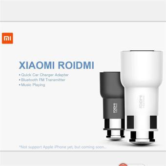 Xiaomi Roidmi Bluetooth 2 USB Charger mobil hi fi penerima putih Internasional .
