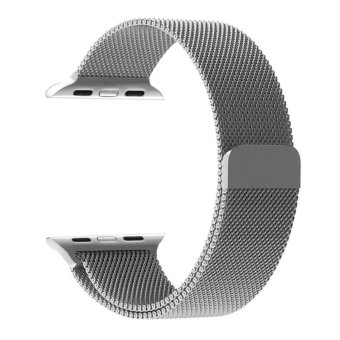 Harga Apple Watch Band - 42mm Milanese Loop Stainless Steel Bracelet Strap Magnetic Closure Clasp - Replacement Wrist Band for iWatch Series 1 Series 2 Sport & Edition - intl