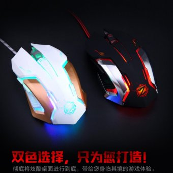 Mouse Gaming Zornwee Gaming Mouse Colorfull Lamp Z035 White 4 .