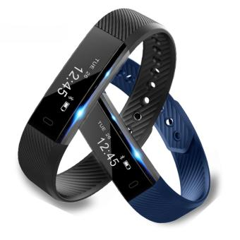 Harga ID115 Smart Sport Bracelet Fitness Watch Activity Tracker Sleep Monitor Wristband Vibrating Alarm Clock Smartband pk mi band2 - intl