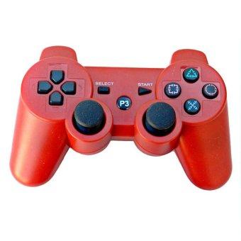 Bluetooth Nirkabel remote kontrol tuas kendali untuk PS3 (Merah) - International .