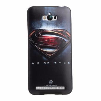 For Asus Zenfone Max ZC550KL TPU 3D Painting Cover Case(Black Superman) - intl