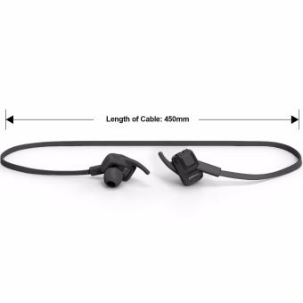 JABEES BeatING Sweatproof Bluetooth V4 1 Stereo Earphones with Built in Mic Hitam .