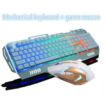Harga Mechanical Keyboard + Mouse Game Super Senior Game Computer Game Office Essential Cool Mouse Keyboard - intl