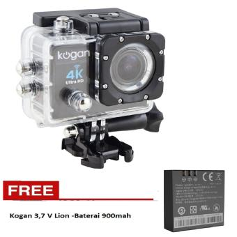 Kogan Action Camera 4K UltraHD - 16MP - Hitam- - WIFI -Free Baterai Kogan