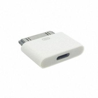 Harga ChenYang 4 USB 8pin female to iPad 2/3 & iPhones Docking 30pin Male Data & Charge Adapter for iPhone & iPad Mini (White)