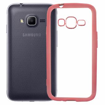 Harga Softcase Silicon Jelly Case List Shining Chrome for Samsung Galaxy V / V Plus - Rose Gold