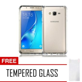 Harga Case AntiCrack / Anti Crack / Shock / Benturan Elegant Softcase for Samsung Galaxy V / V+ Plus + Gratis Free Tempered Glass - Clear