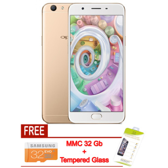 Harga Oppo - F1s 32 Gb - Gold + MMC 32 Gb & Tempered Glass